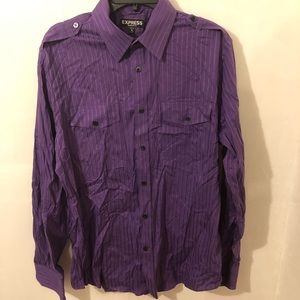 Express Men's Button Front Dress Shirt Size Medium